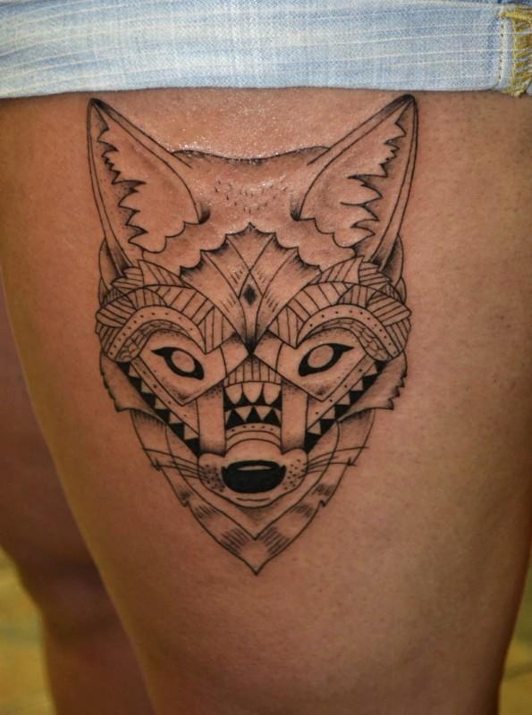 New School Pin Up Tattoo Farkas Róka Tetov...